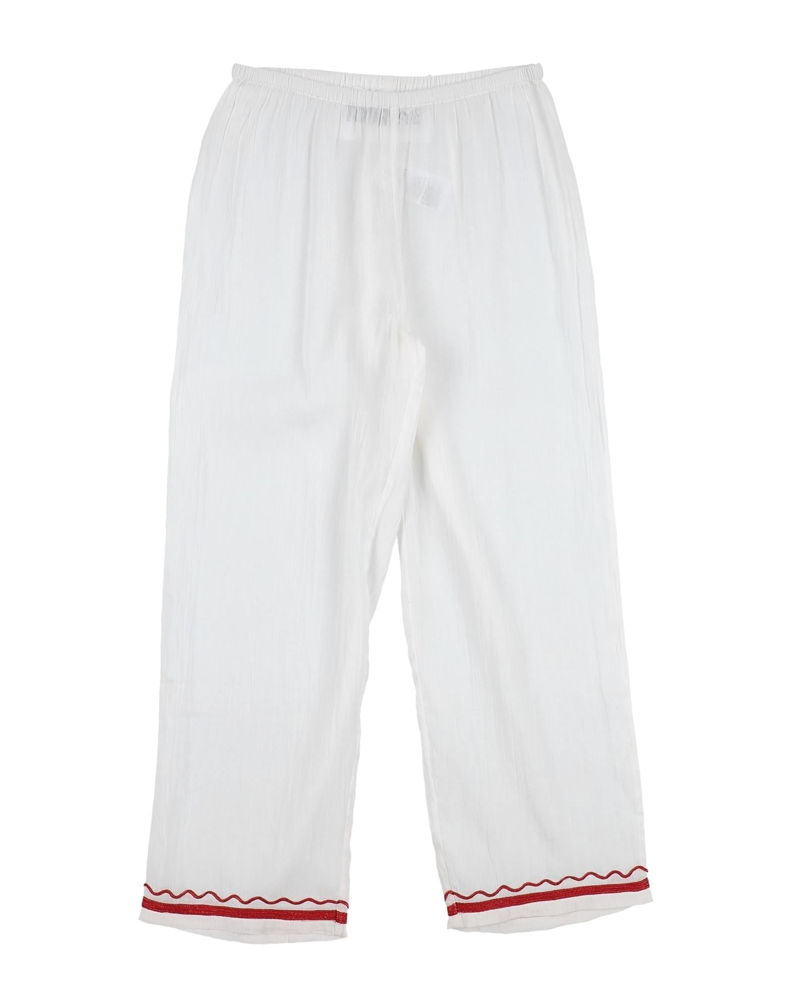 Touriste Kids' Casual Pants In White