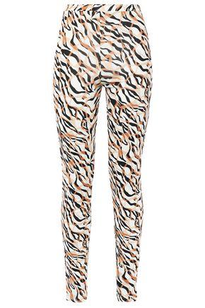 ROBERTO CAVALLI Printed stretch-crepe leggings