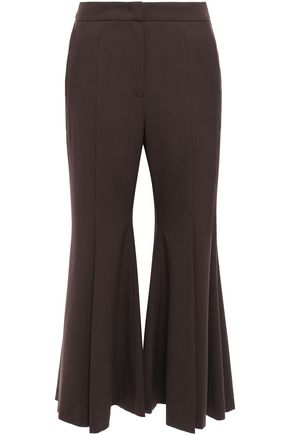 GOEN.J Pleated woven kick-flare pants