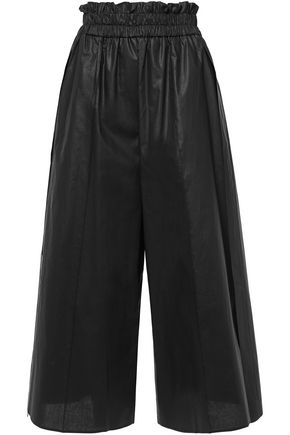 GOEN.J Gathered coated-cotton culottes