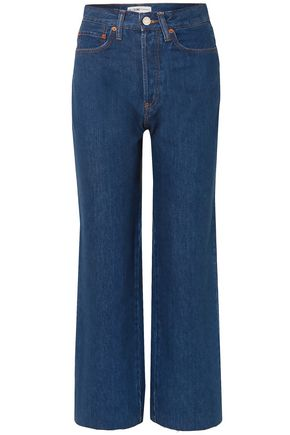 RE/DONE Frayed high-rise straight-leg jeans