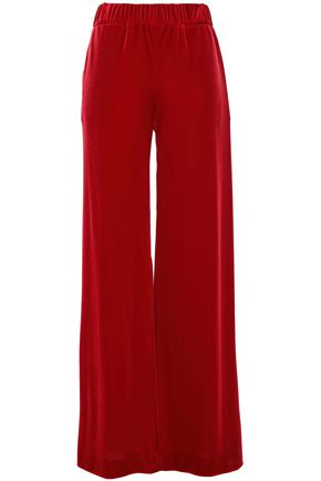 ALEXANDRE VAUTHIER Stretch-velvet wide-leg pants