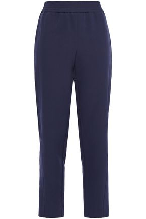 SALLY LAPOINTE Cropped stretch-cady straight-leg pants