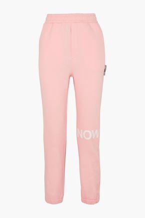 DOUBLE RAINBOUU EZ printed cotton-fleece track pants