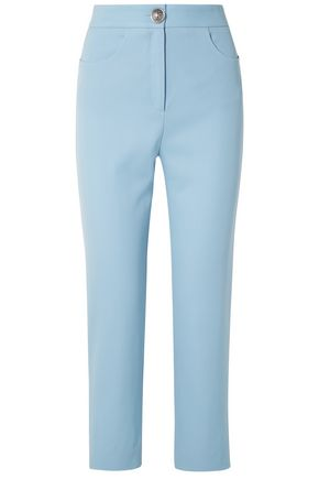 BALMAIN Wool-twill straight-leg pants