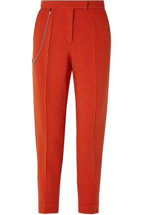 BOTTEGA VENETA Chain-embellished wool-blend tapered pants