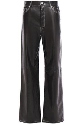 HELMUT LANG Leather wide-leg pants