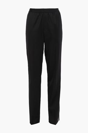 HELMUT LANG Striped wool-twill tapered pants