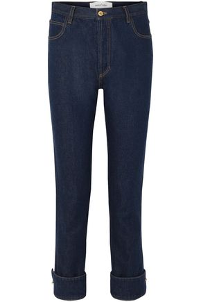 MARQUES' ALMEIDA Ring-embellished high-rise straight-leg jeans