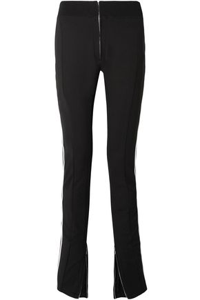 TRE by NATALIE RATABESI Melanie pipe-trimmed stretch wool-blend skinny pants