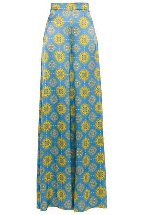 SEREN LONDON Byblos printed silk crepe de chine wide-leg pants