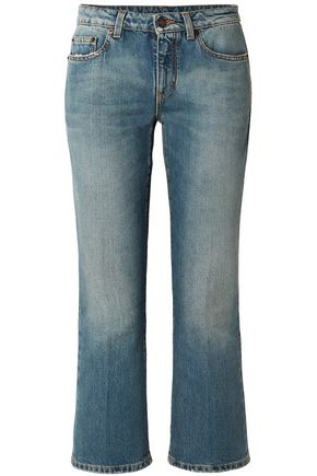 SAINT LAURENT Faded mid-rise kick-flare jeans