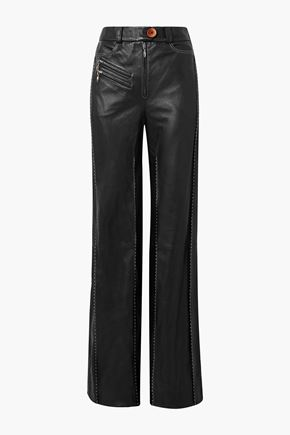 ELLERY Fischer paneled leather wide-leg pants