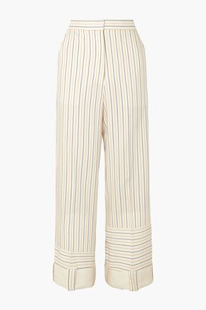 J.W.ANDERSON Striped woven wide-leg pants