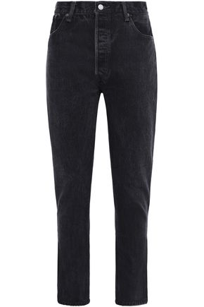 RE/DONE with LEVI'S Cropped high-rise slim-leg jeans