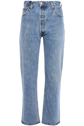 RE/DONE with LEVI'S Cropped high-rise straight-leg jeans