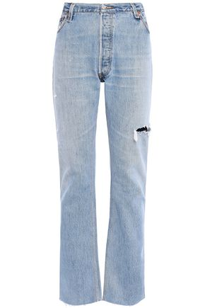 RE/DONE with LEVI'S Distressed high-rise kick-flare jeans