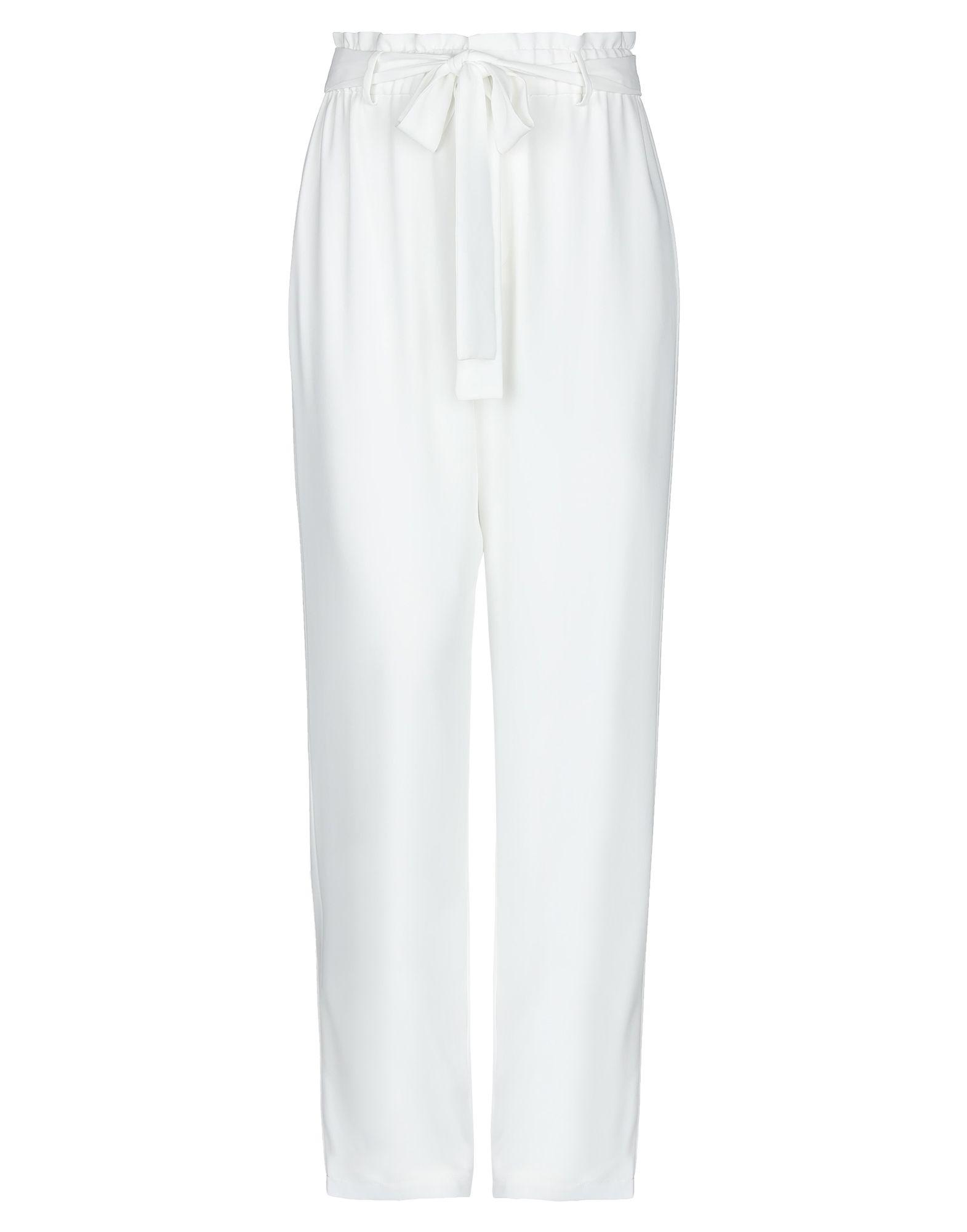 《セール開催中》BY MALINA レディース パンツ ホワイト S ポリエステル 100%