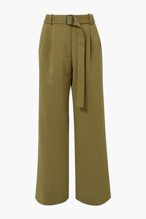 SIES MARJAN Blanche belted wool-canvas pants
