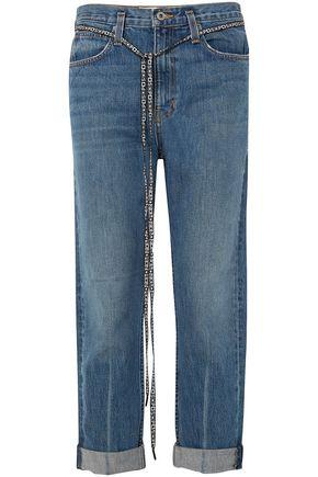 PROENZA SCHOULER PSWL canvas-trimmed boyfriend jeans