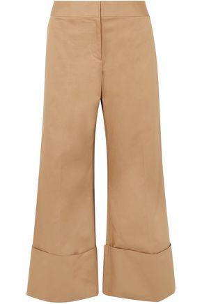MONSE Cropped cotton-blend gabardine wide-leg pants