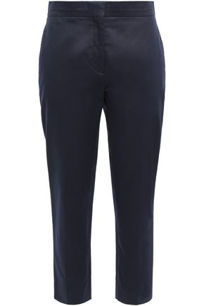 VALENTINO Cropped cotton-twill straight-leg pants