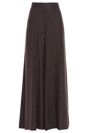 VALENTINO Silk-shantung wide-leg pants