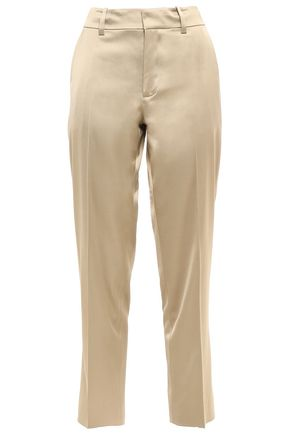 JASON WU Satin-twill straight-leg pants