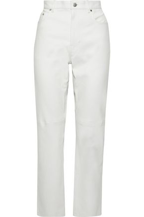 JOSEPH Kemp leather straight-leg pants