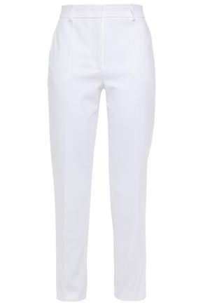 EMILIO PUCCI Cropped slub stretch-cotton slim-leg pants