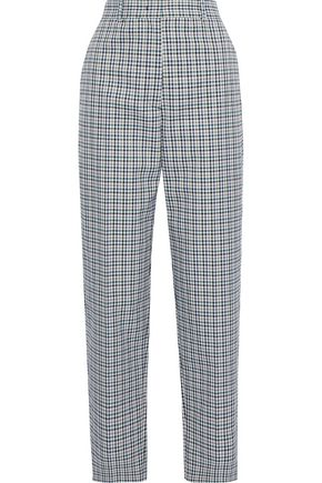 JOSEPH Electra checked twill tapered pants