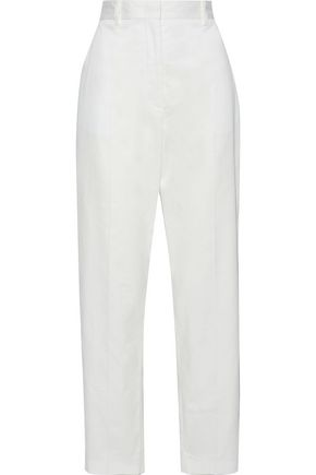JOSEPH Electra cotton-twill tapered pants