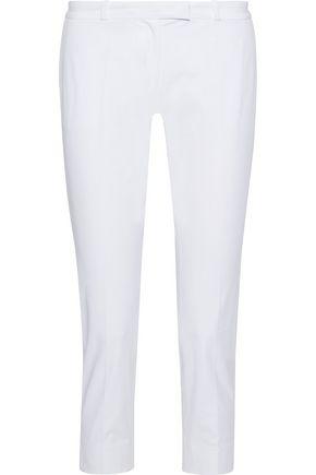 JOSEPH Bing Court cropped stretch-cotton slim-leg pants