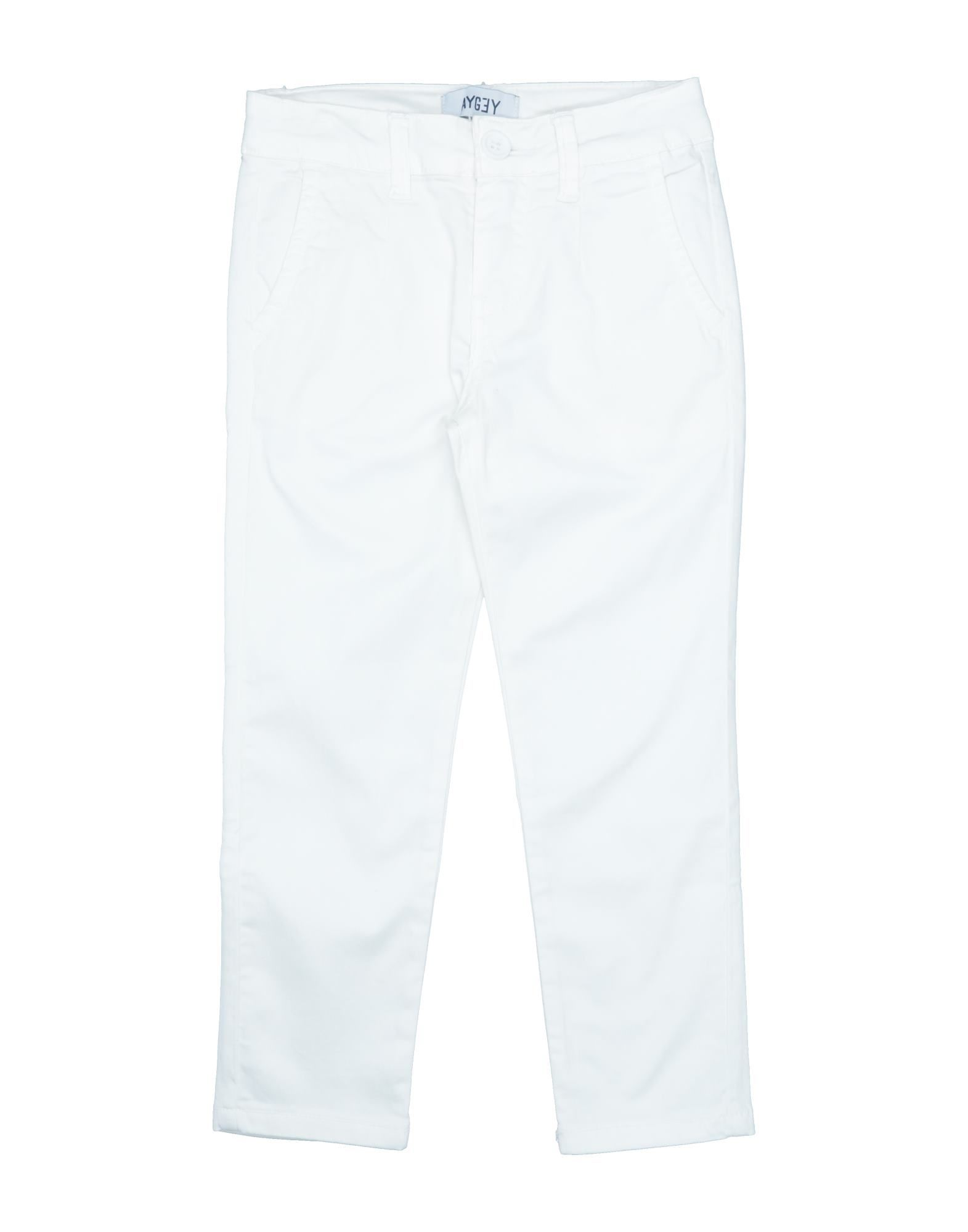 Aygey Kids' Casual Pants In White