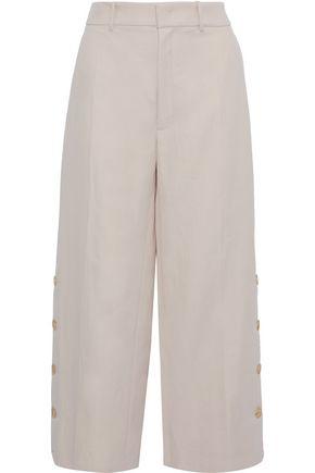 JOSEPH Fade ramie and cotton-blend twill wide-leg pants