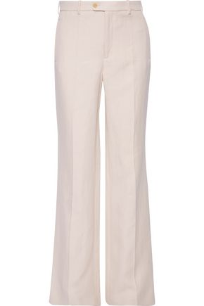 JOSEPH Kosta ramie and cotton-blend twill bootcut pants