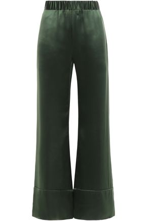 DEITAS Paloma silk-satin wide-leg pants
