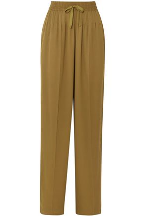 HAIDER ACKERMANN Pleated cady wide-leg pants