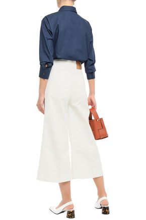 CEDRIC CHARLIER Cropped high-rise flared jeans