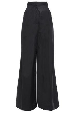 ALBERTA FERRETTI Cotton-poplin wide-leg pants