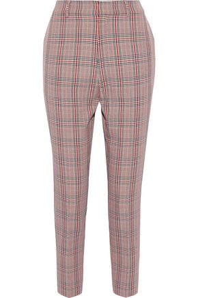 IRIS & INK Mandy checked cady tapered pants