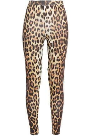 MOSCHINO Leopard-print stretch-jersey leggings