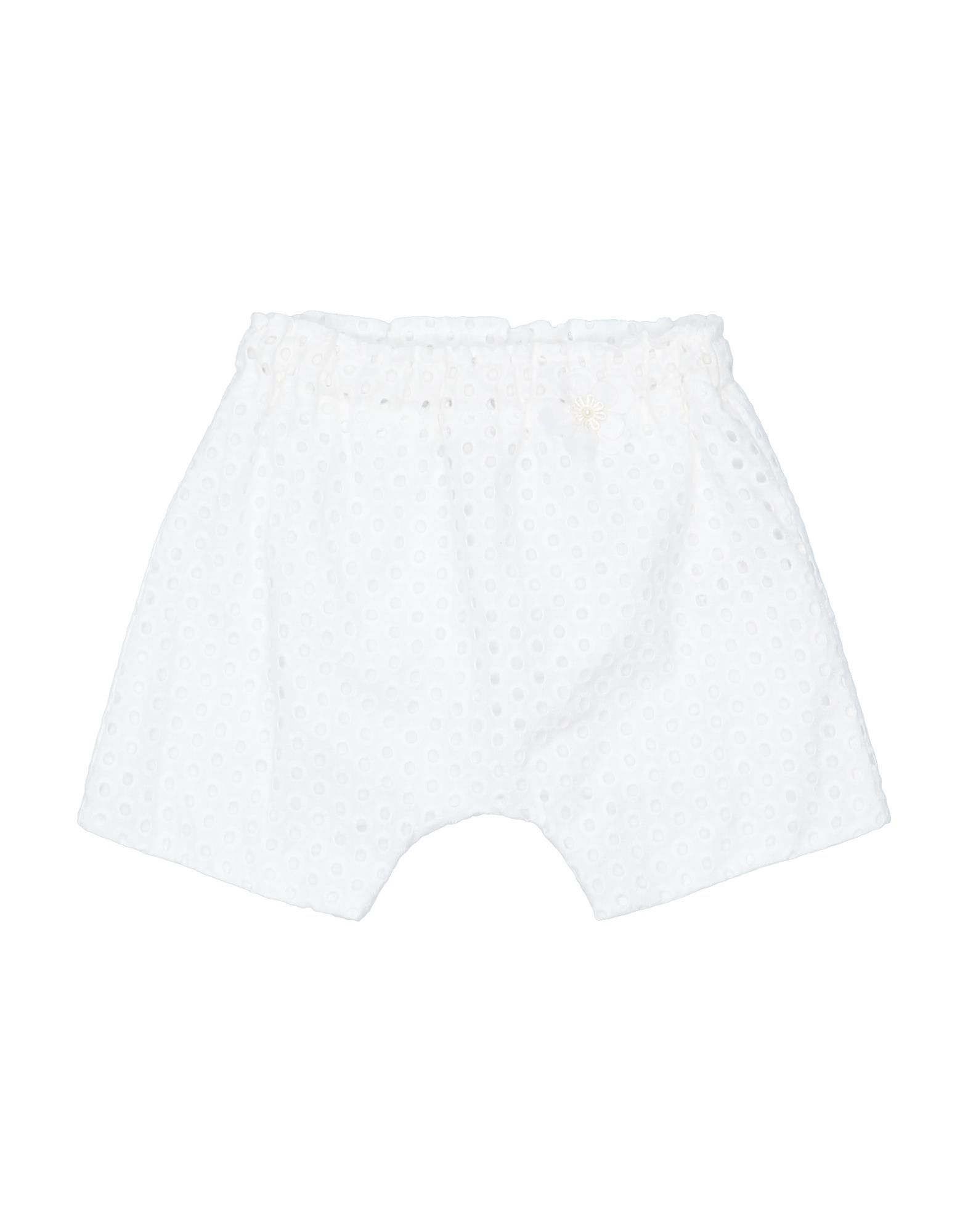 《セール開催中》ALETTA ガールズ 0-24 ヶ月 ショートパンツ ホワイト 6 コットン 100%