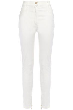 BALMAIN Stretch-cotton twill slim-leg pants