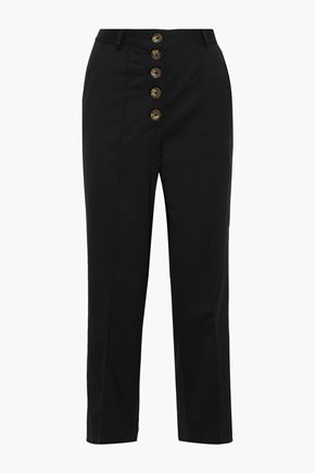 EACH X OTHER Button-detailed twill straight-leg pants