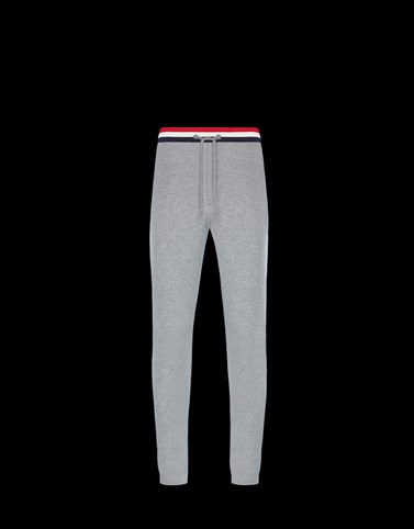 CASUAL PANTS Grey Category JERSEY PANTS Man
