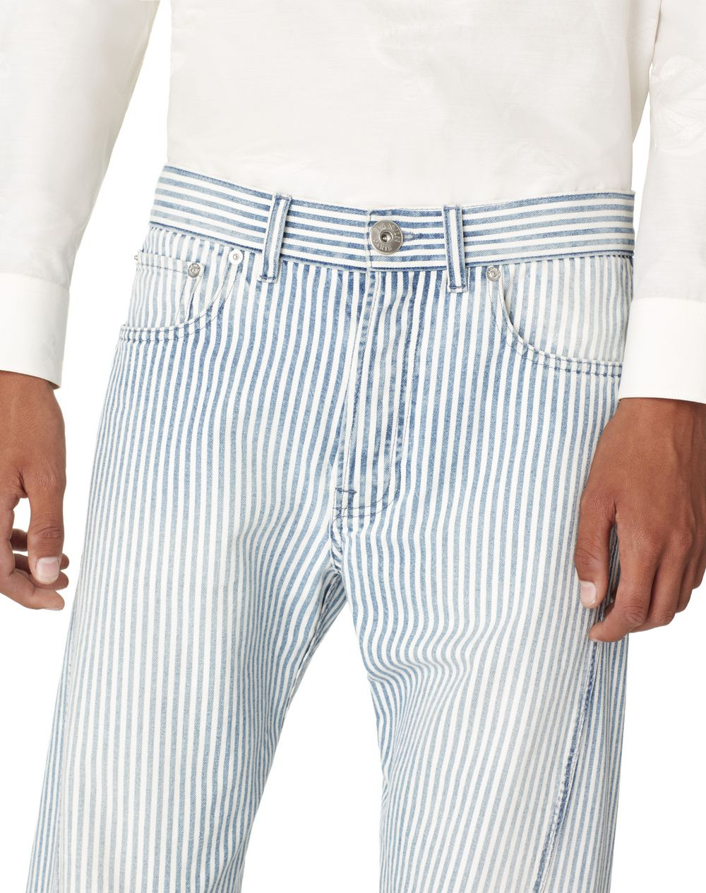 STRIPED DENIM TROUSERS - Lanvin