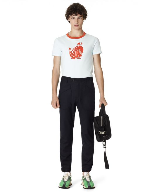 SLIM-FIT WOOL AND CASHMERE TROUSERS - Lanvin