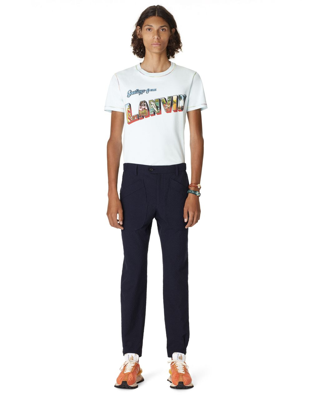 SLIM-FIT COTTON TROUSERS - Lanvin