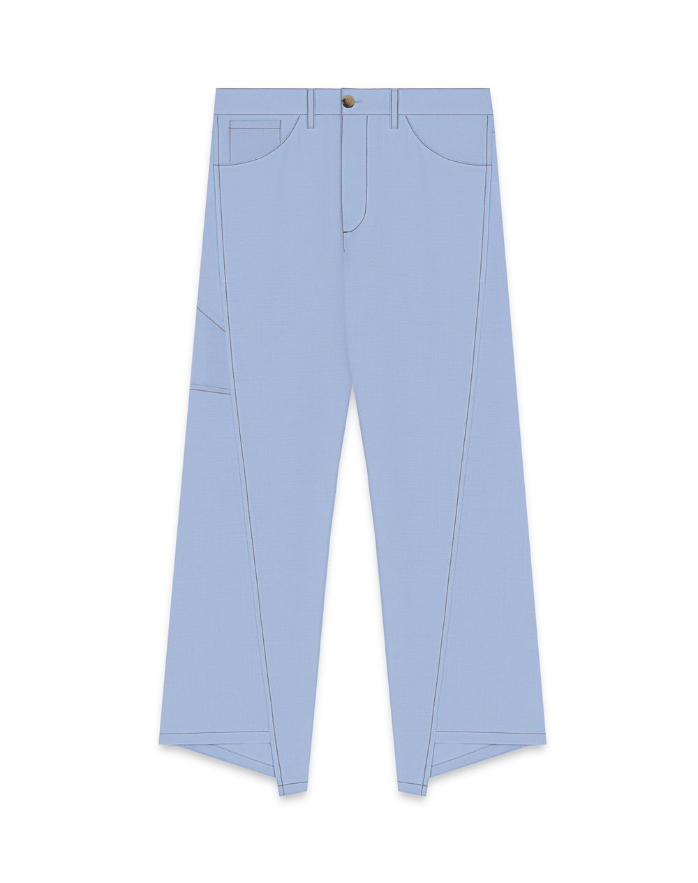 WOOL AND MOHAIR TROUSERS - Lanvin
